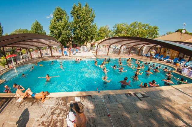 Heated And Covered Swimming Pool In Vias Plage